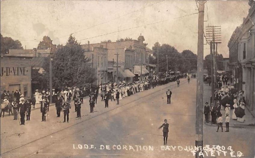 Resized Decoration Day Parade c1908