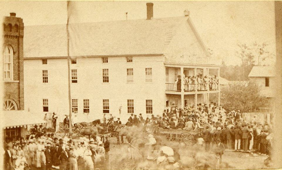 Downtown Fayette July 4 Celebration c1875