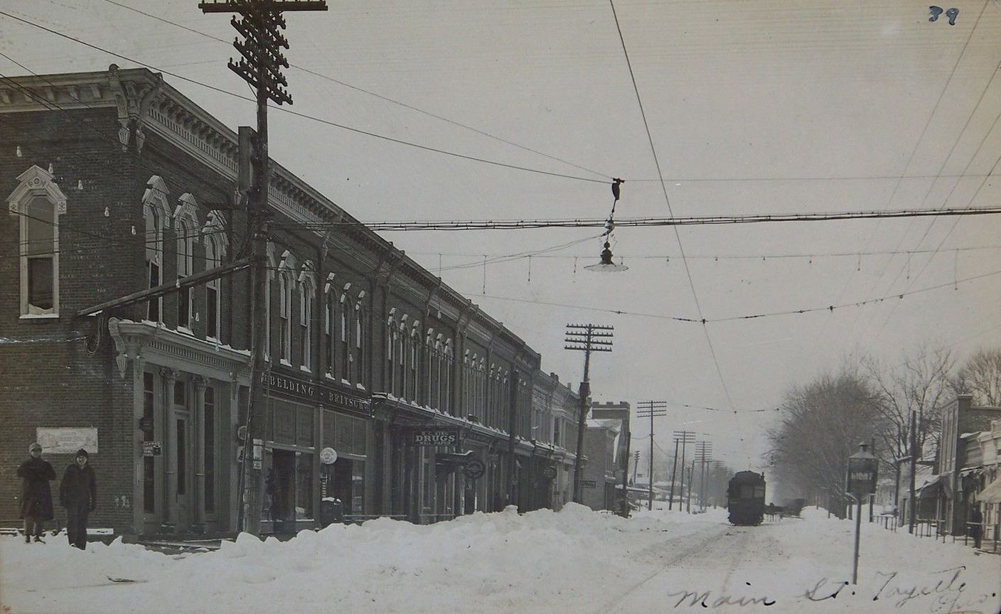 Downtown Fayette - Winter 1910